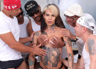 Gaby Ink - Gangbanging Gaby : It's that time again folks. Today we have the sexy tattooed Gaby Ink making a comeback with a hardcore ass-stuffing gangbang. This girl gets her ass simply stuffed and fucked! Let's get right to the action ladies and gentlemen!